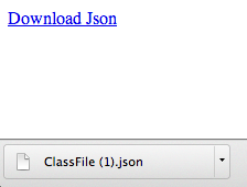 Create a link that downloads a .json file